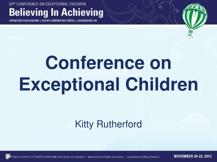 conference on exceptional children n.