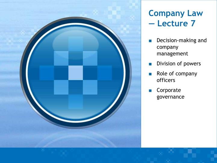 company law lecture 7 n.