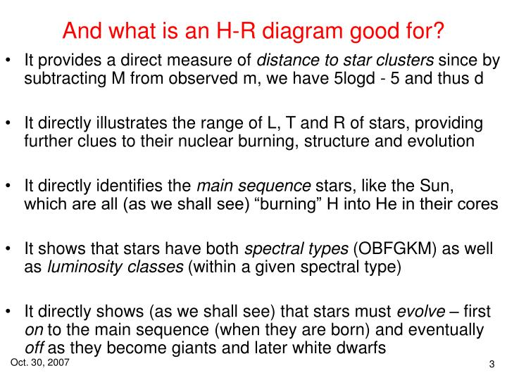 Ppt The H R Diagram Roadmap For Stellar Understanding Powerpoint
