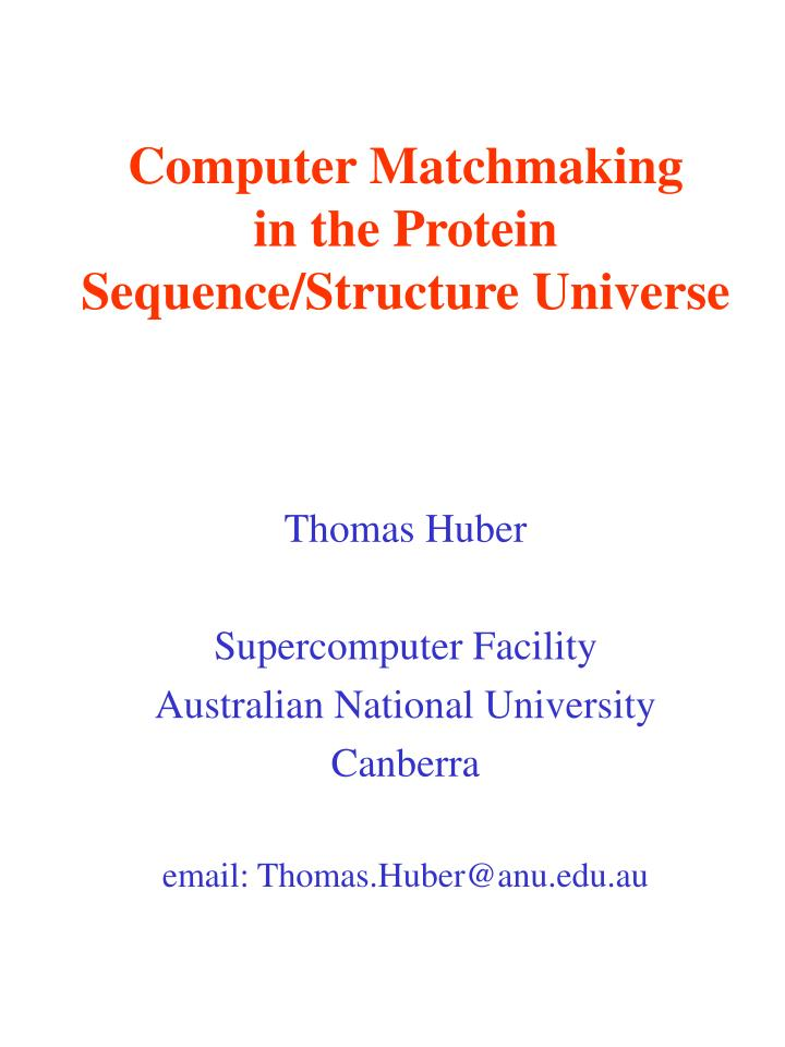 computer matchmaking in the protein sequence structure universe