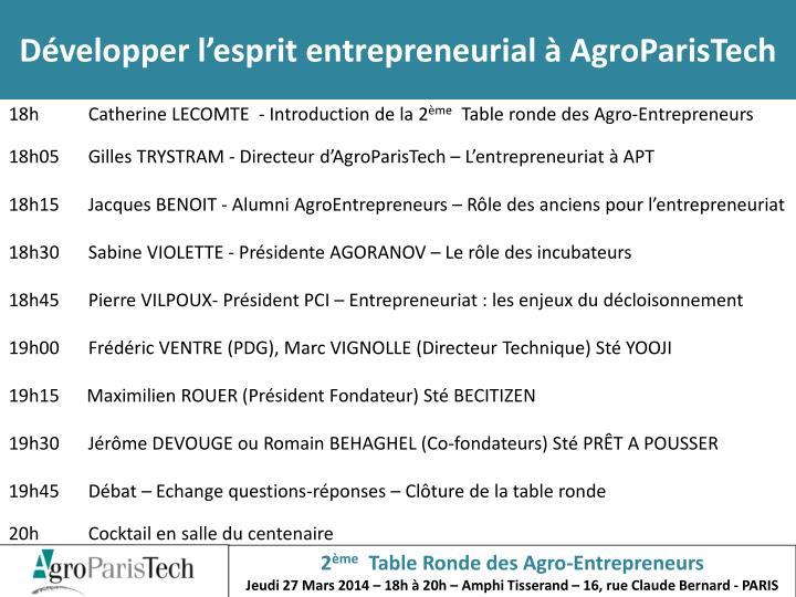 D velopper l esprit entrepreneurial agroparistech