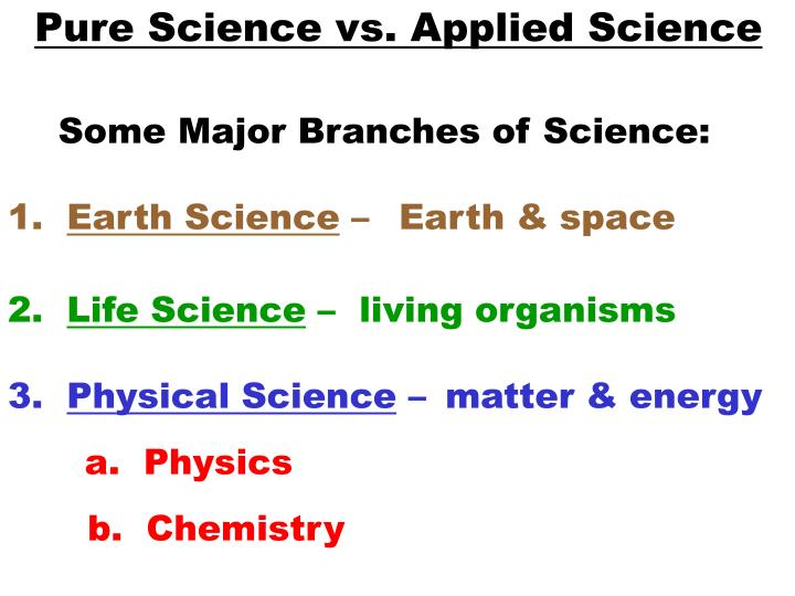 ppt pure science vs applied science powerpoint presentation id