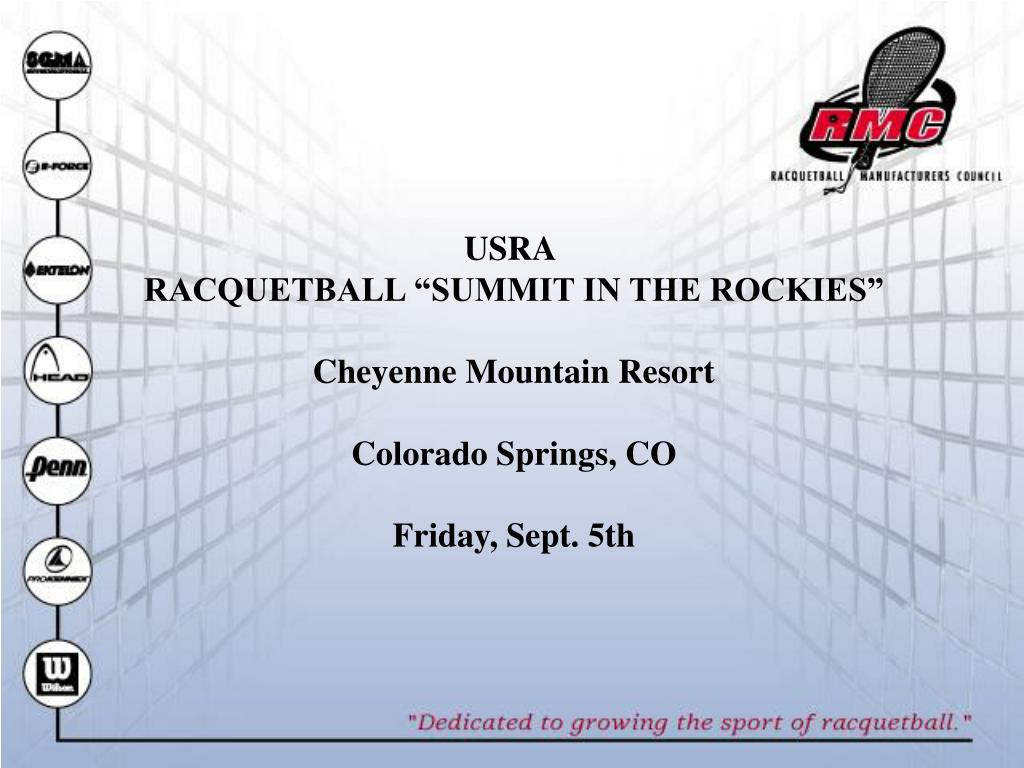 "USRA RACQUETBALL ""SUMMIT IN THE ROCKIES"" Cheyenne"