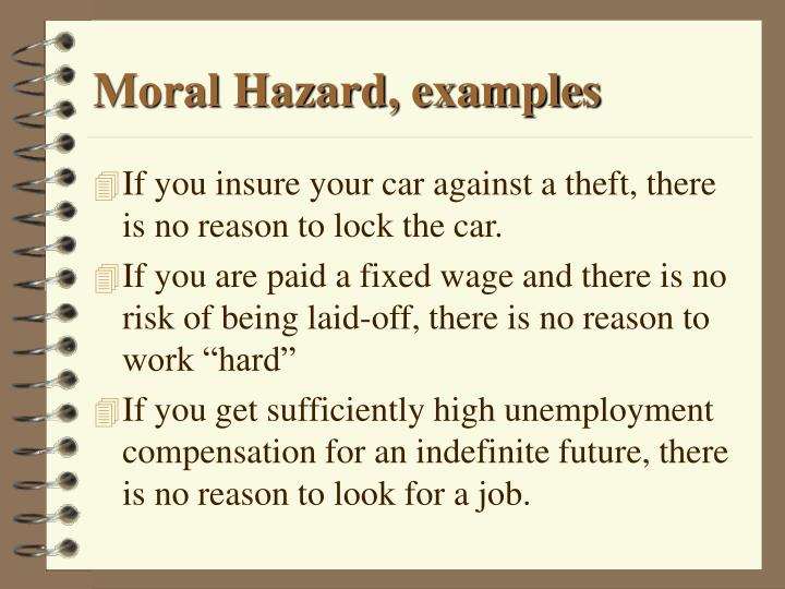 Moral Hazard Examples Image Collections Example Cover Letter For