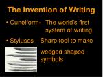 the invention of writing1