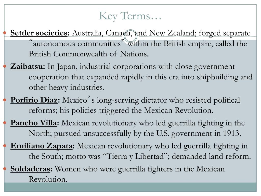 PPT - Chapter 29 AP World History PowerPoint Presentation - ID:5425294