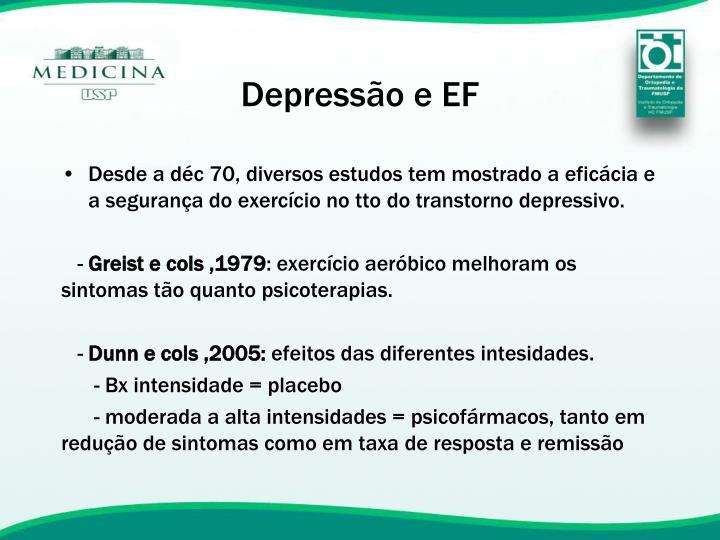 Depressão e EF