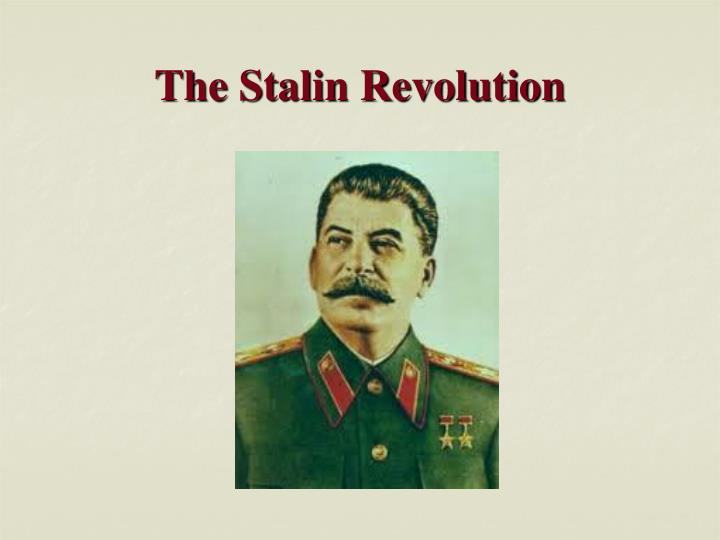 The stalin revolution