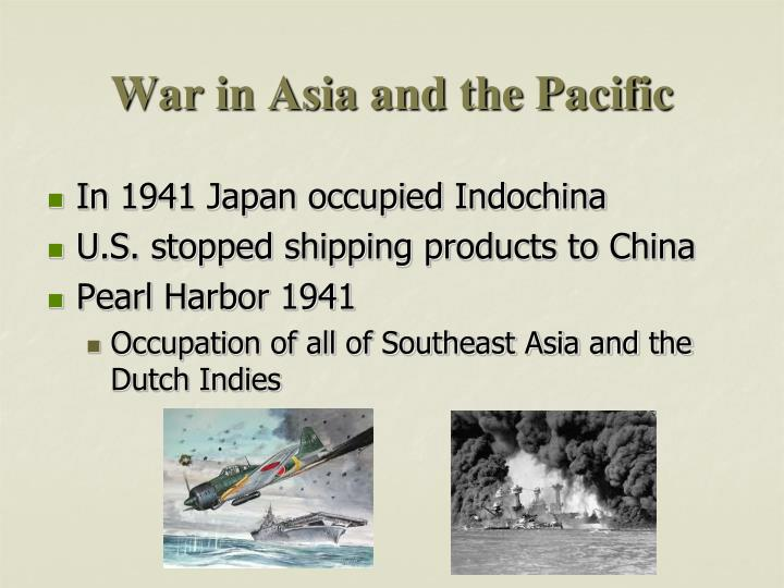 War in Asia and the Pacific