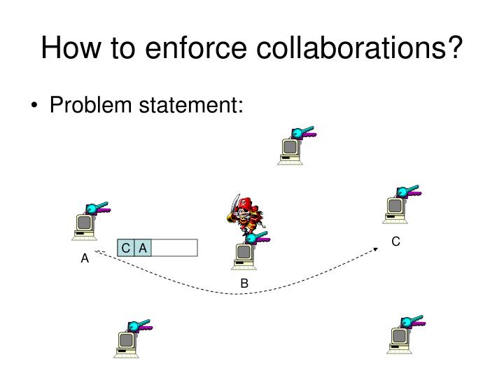How to enforce collaborations?