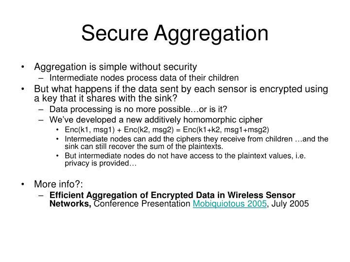Secure Aggregation