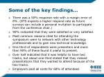 some of the key findings