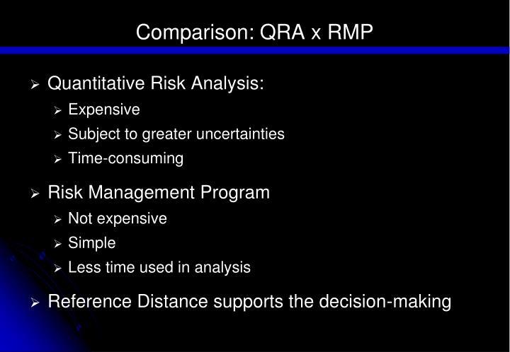 Comparison: QRA x RMP