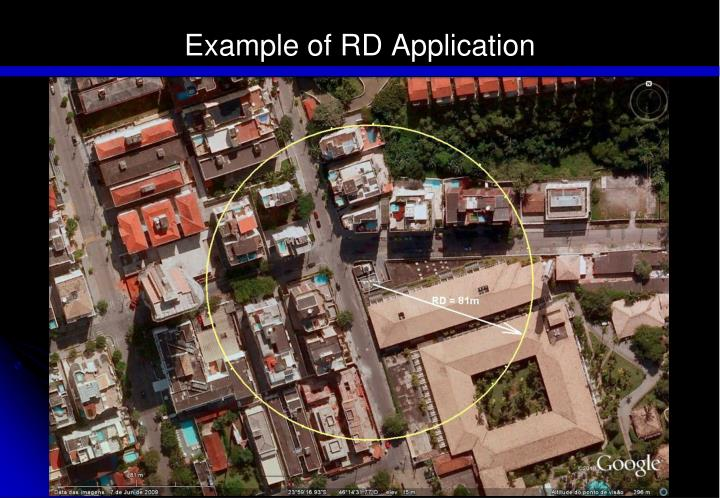 Example of RD Application