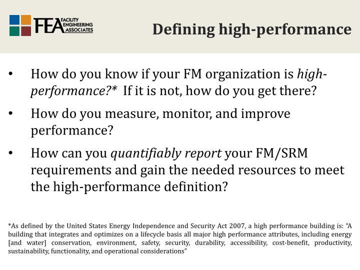 Defining high-performance