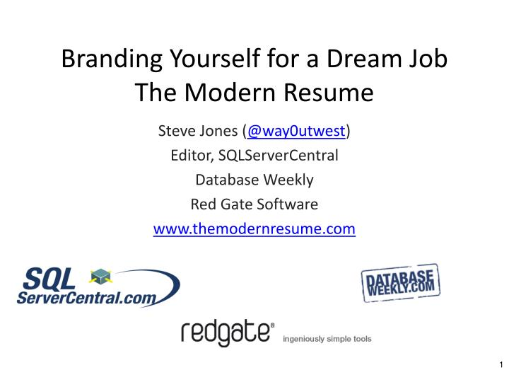 branding yourself for a dream job the modern resume n.