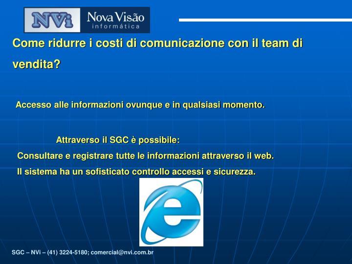 Come ridurre i costi di comunicazione con il team di vendita?