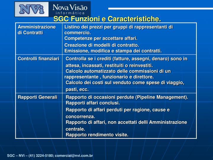 SGC Funzioni e Caracteristiche.