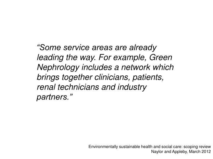 Environmentally sustainable health and social care scoping review naylor and appleby march 2012