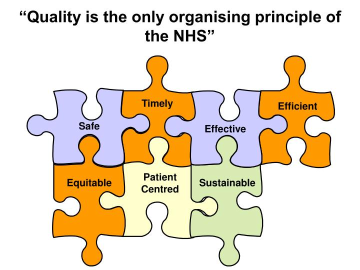 """Quality is the only organising principle of the NHS"""
