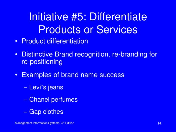 product differentiaion