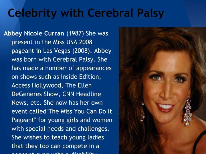 Celebrity with Cerebral Palsy