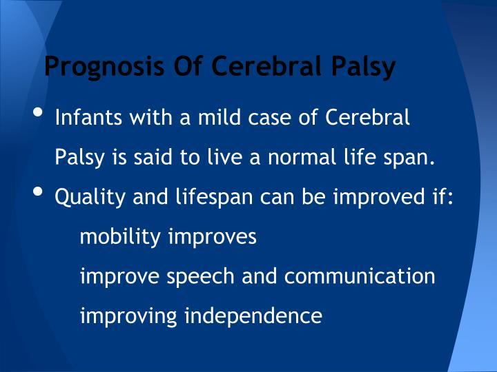 Prognosis Of Cerebral Palsy