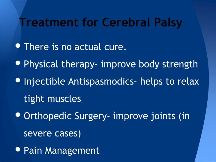 Treatment for Cerebral Palsy