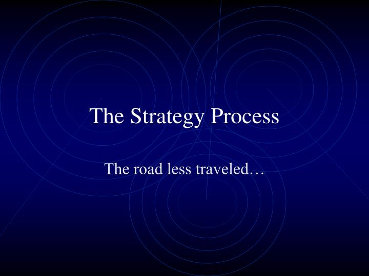 the strategy process n.
