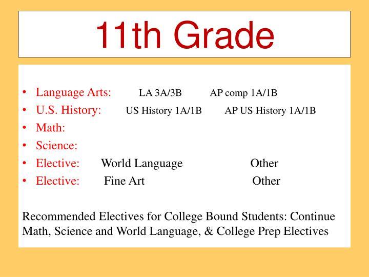 11th Grade