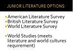 junior literature options
