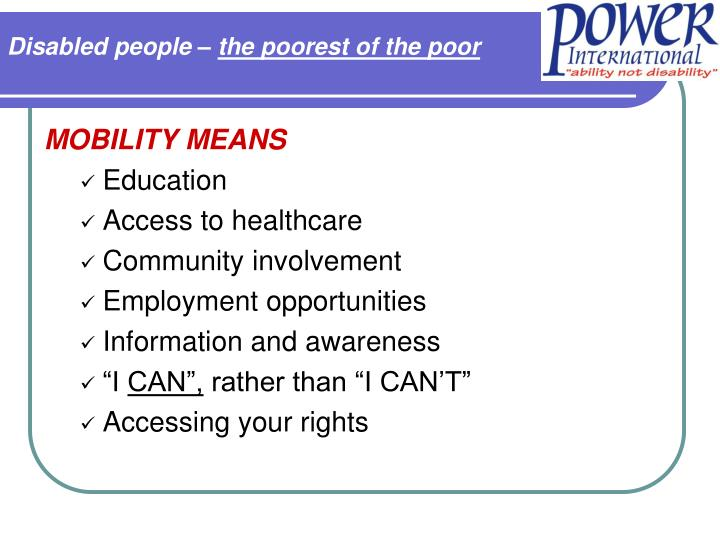 Disabled people –