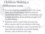 children making a difference cont