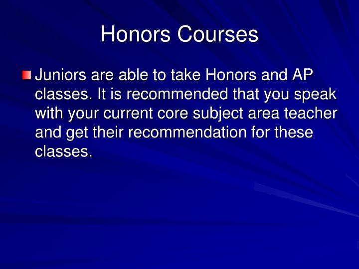Honors Courses