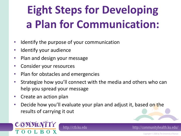 Eight Steps for Developing