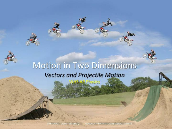 motion in two dimensions vectors and projectile motion w hs ap physics n.