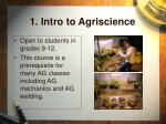 1 intro to agriscience