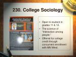 230 college sociology