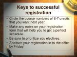 keys to successful registration