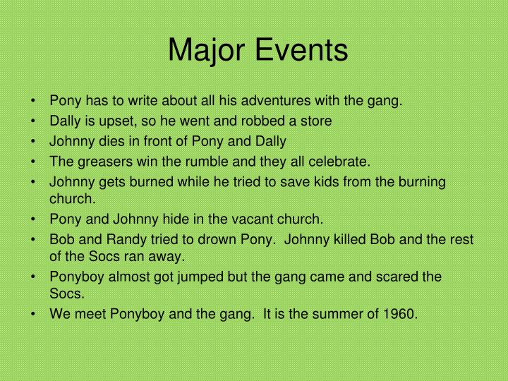 Major Events