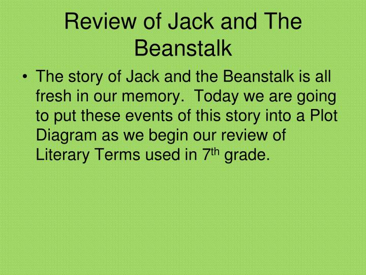 Review of jack and the beanstalk