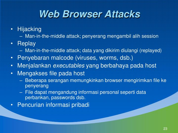 Web Browser Attacks