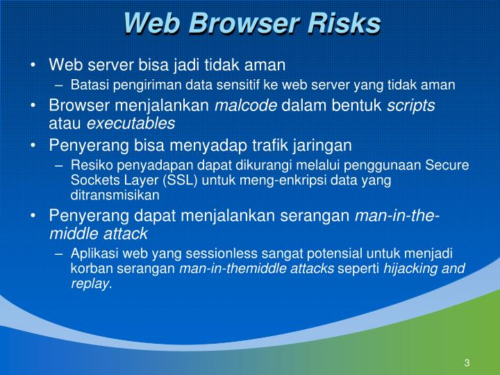 Web Browser Risks