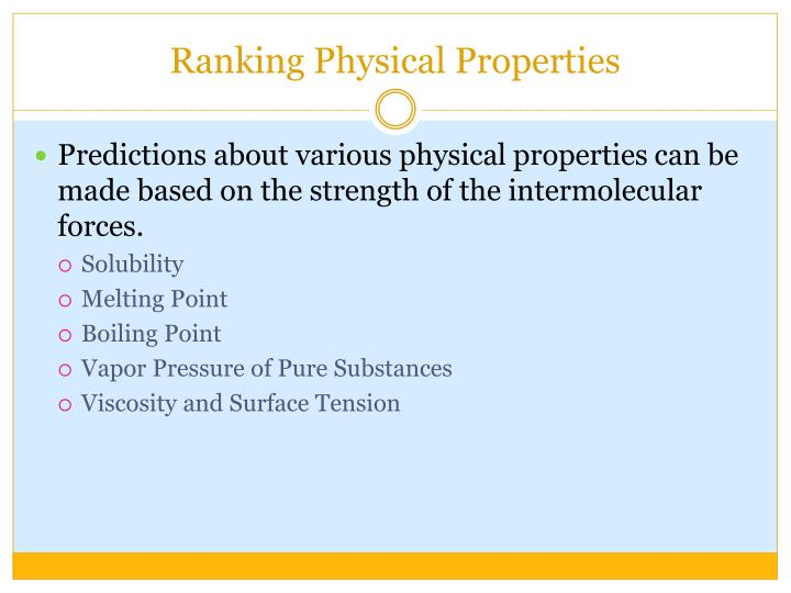 Ppt Intermolecular Forces Powerpoint Presentation Id5426376. Ranking Physical Properties. Worksheet. Intermolecular Forces Strongest To Weakest Worksheet At Mspartners.co