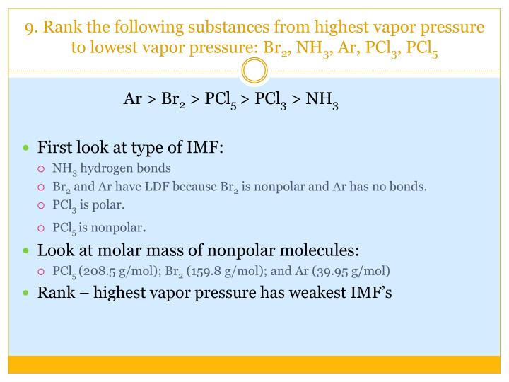 Ppt Intermolecular Forces Powerpoint Presentation Id5426376. 9 Rank The Following Substances From Highest Vapor Pressure To. Worksheet. Intermolecular Forces Strongest To Weakest Worksheet At Mspartners.co