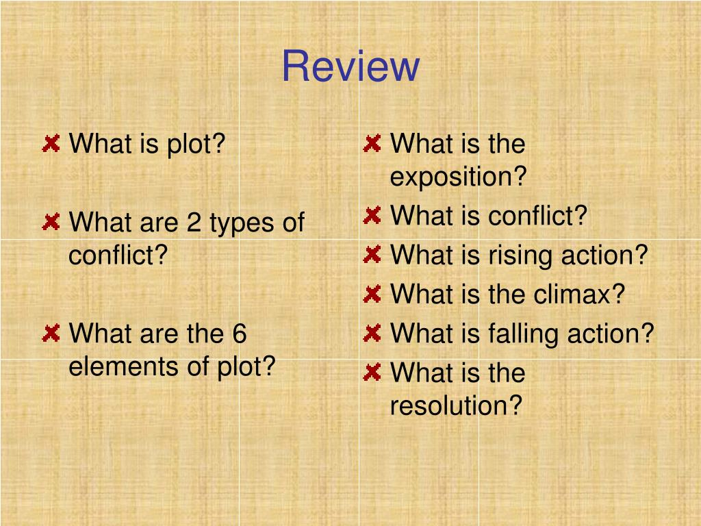 PPT - Identifying the Elements of A Plot Diagram PowerPoint
