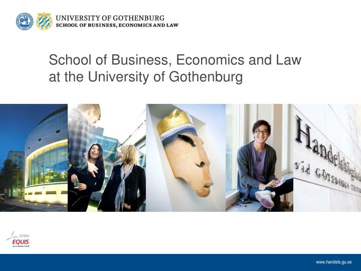 School of business economics and law at the university of gothenburg