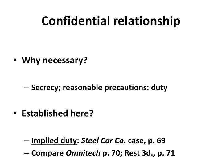 Confidential relationship