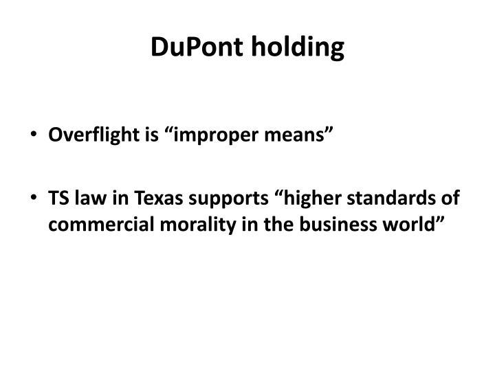 DuPont holding