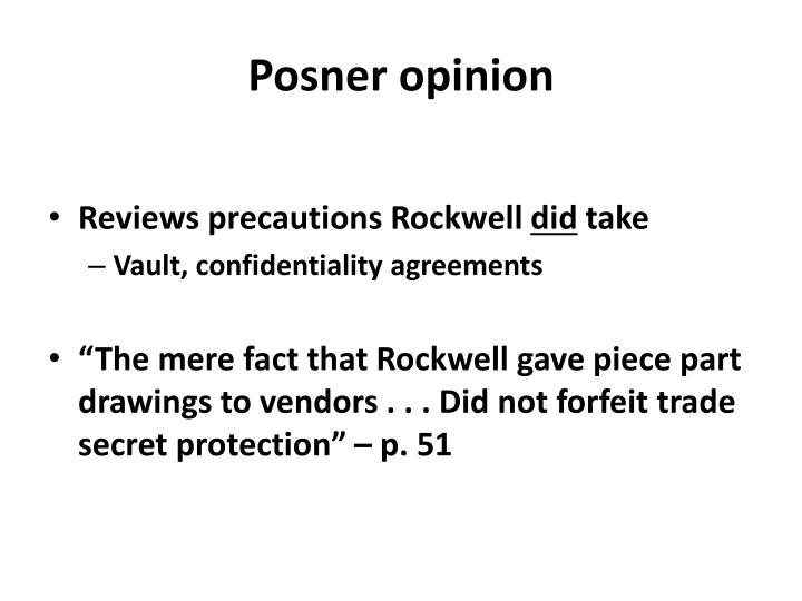 Posner opinion